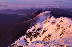 A wintry view on the Beinn Eighe National Nature Reserve