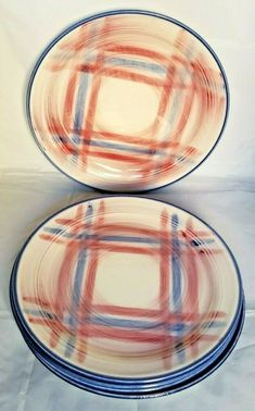 USA hand painted watermelon 10 x 6 oval salad or desert plate