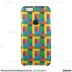 Wood,colorful,building blocks,kids,fun,happy,retro uncommon clearly™ deflector iPhone 6 case