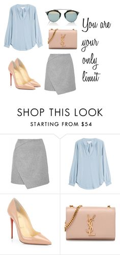 """""""You are your ..."""" by alex-hllnz on Polyvore featuring moda, Velvet, Christian Louboutin, Yves Saint Laurent y Christian Dior"""