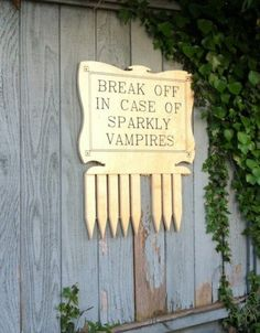 LOL-- Halloween decor? Because no sparkly vampires are allowed on my property :)
