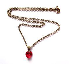 Halsband med swarovski hjärta