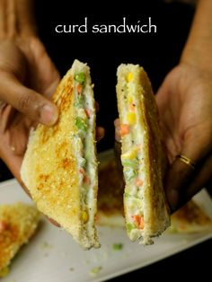 Sandwich Recipes For Lunch Sandwich Recipes For Kids, Vegetarian Sandwich Recipes, Veg Sandwich, Sandwich Bread Recipes, Kids Cooking Recipes, Lunch Box Recipes, Baby Food Recipes, Indian Food Recipes, Kids Meals