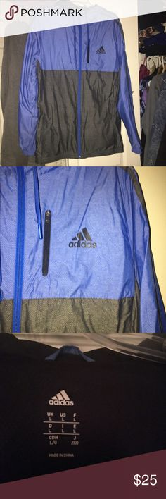 Adidas windbreaker men's Nice gift! Used three times. Men's adidas Jackets & Coats Lightweight & Shirt Jackets