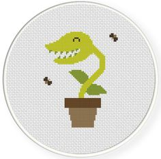 FREE for Sept 1st 2014 Only - Venus Flytrap Cross Stitch Pattern