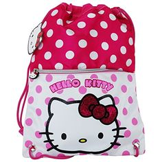 Hello Kitty Dots Drawstring Gym Backpack Daypack Travel Bag Pq * You can find out more details at the link of the image. (Note:Amazon affiliate link)