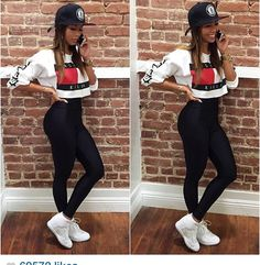 style fashion cool nike leggins high waisted