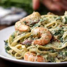 Easy Healthy Dinners, Healthy Dinner Recipes, Cooking Recipes, Seafood Dishes, Pasta Dishes, Best Seafood Recipes, Cooked Shrimp Recipes, Prawn Recipes, Baked Shrimp