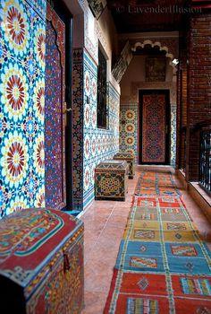 Hotel Fantasia in tecnicolour, Marrakesh, Morocco