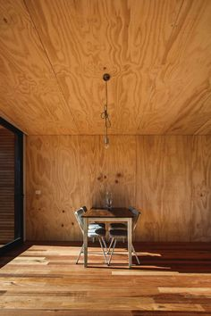 Pump House by Branch Studio Architects is a metal-clad lakeside cabin Plywood Ceiling, Plywood Walls, Wood Ceilings, Plywood Cabinets, Concrete Walls, Ideas Cabaña, Plywood Interior, Lakeside Cabin, Small Gardens