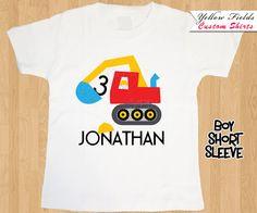 Construction Birthday Shirt Cute Graphic by YellowFieldsDesigns