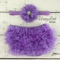 SET Purple Lavender Lilac Chiffon diaper cover ruffle butt bloomers rhinestone flower headband bow, newborn infant toddler baby girl photo prop by HoneyLoveBoutique Baby Boy Pictures, Baby Girl Photos, Newborn Tutu, Baby Girl Newborn, Ruffle Diaper Covers, Baby Boy Baptism, Rhinestone Headband, Pink Kids, Chiffon Flowers