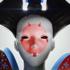Ghost in the Shell - Geisha Robot by Christian Schalauka