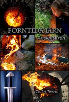 Ancient Iron - book with lots of picture of iron-making and blacksmithing - Vikinga age style by Ziddharta on Etsy