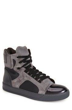 Lanvin High Top Sneaker (Men) available at #Nordstrom