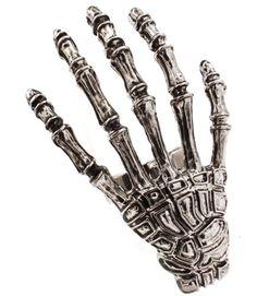 Gothic Emo Punk Skull Hands - Skull Hand Fashion Ring   #Goth #Emo #Rock #Punk
