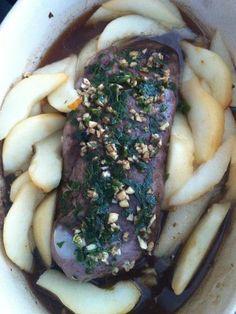 Magret de canard aux poires (au four, simple et délicieux) - Recette de cuisine Marmiton : une recette