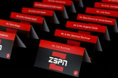 ESPN Themed Logo Place Cards ESPN Themed Bar Mitzvah with Custom Logo Place…