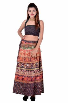 Indian Cotton Long Floral Skirts for Women Wrap Around Skirt, Printed Cotton, Two Piece Skirt Set, Floral Skirts, Indian, Summer, Prints, Color, Dresses