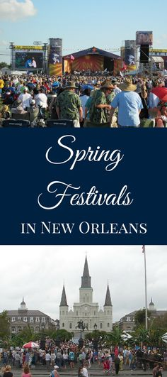 Springtime is coming, and we're ready to celebrate the many spring festivals happening in New Orleans!