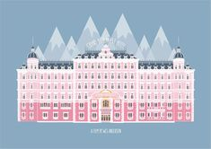 The Grand Budapest Hotel Print by PUNCHDRUNKLONDON on Etsy