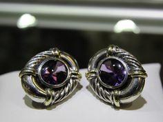 David Yurman Amethyst Earrings #DavidYurman #Gold #SterlingSilver #DynastyPawn #www.Dynastypawn.com