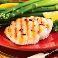 Very good - used a lemony vinaigrette tp marinate and drizzled with pesto sauce before serving. August, Grilled on kitchen stovetop grill. Grilling Recipes, Fish Recipes, Seafood Recipes, Cooking Recipes, Fish Dishes, Seafood Dishes, Fish And Seafood, Healthy Eating Tips, Healthy Recipes