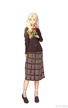 Aesthetic Girl, Aesthetic Anime, Fashion Sketches, Art Sketches, Fashion Art, Fashion Show, Character Art, Character Design, Anime Style