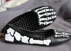 DIY Skeleton Shoes