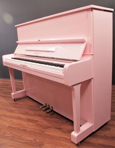 Yamaha Studio Upright Piano Polished Pink Reconditioned Upright Pianos Looking for a pink piano? The gold-standard Yamaha with a brand-new polished pink finish! Pink Piano, White Piano, Music Aesthetic, Pink Aesthetic, Yamaha U1, Refinish Piano, Piano Shop, Music Guitar, Violin