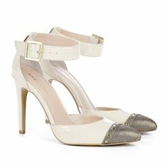 Sole Society - Dark Gold Ecru - D'orsay pumps - Abida