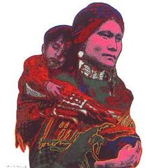 [Andy Warhol Cowboys and Indians; Mother and Child]