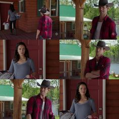 Mitch: I'm no Amy Fleming but I think the best thing for those guys is to just take 'em on a trail ride together, u no, get 'em used to each other. Lou: Maybe u & grandpa could do that. Mitch: Or we could. Lou: U & me? Mitch: It's not a problem, is it? Lou: No, it's not a problem. It's just... this is a very busy time for me so... Mitch: It's not because u can't avoid me if we go on a remote trail ride together? Lou: I am not avoiding u. That's ridiculous. Mitch: Great.  Lou: Fine(10x02