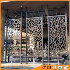 China Decorative Aluminum Laser Cut Outdoor Privacy Screen Exterior Wall Panel, Find details about China Screens, Garden Fence from Decorative Aluminum Laser Cut Outdoor Privacy Screen Exterior Wall Panel - Qingdao Booming Industry & Trade Co. Privacy Wall On Deck, Outdoor Privacy, Privacy Walls, Privacy Screens, Outdoor Screen Panels, Decorative Screen Panels, Steel Fence Panels, Metal Wall Panel, Office Design Concepts