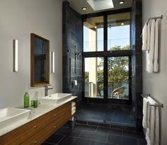 Bluff Point Road - modern - bathroom - new york - Blaze Makoid Architecture