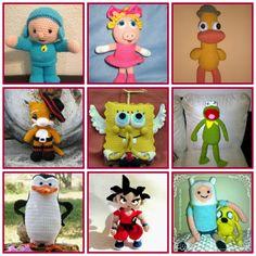http://www.arteydiversidades.com/2013/06/personajes-de-television-amigurumis.html Amigurumis para niños con patrones gratuitos