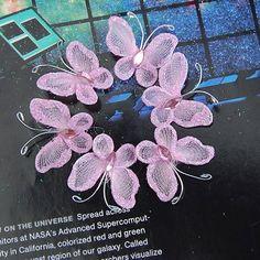 Amazon.com: 100 Pcs Wired Mesh Stocking Butterflies Wedding Decor (Pink)