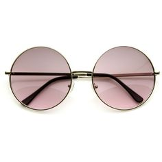 Oversize Vintage Inspired Metal Round Circle Sunglasses 8370 (175 ARS) ❤ liked on Polyvore featuring accessories, eyewear, sunglasses, glasses, round metal glasses, round lens sunglasses, rounded sunglasses, round lens glasses and metal sunglasses