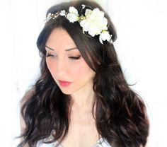 A personal favorite from my Etsy shop https://www.etsy.com/ca/listing/191635019/floral-crown-bridal-headpiece-wedding