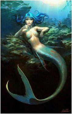 Sirène sur un rocher