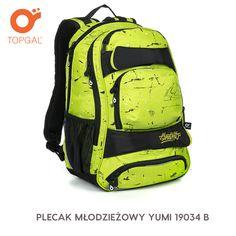 Plecak Topgal w kolorze soczystej limonki.