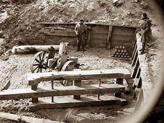 Soldiers in Trenches in the Civil War