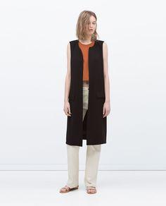 LONG WAISTCOAT WITH SLITS-Jackets-WOMAN-SALE | ZARA United States