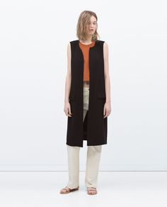 LONG WAISTCOAT WITH SLITS-Jackets-WOMAN-SALE | ZARA United States