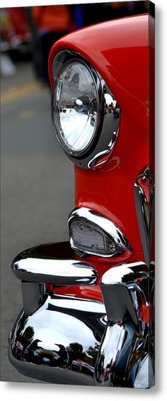 Red 55 Chevy Headlight Acrylic Print By Dean Ferreira