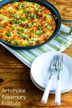 Artichoke-Rosemary Frittata Recipe (Low-Carb, Gluten-Free) - Kalyns Kitchen