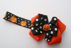 Halloween Baby Boutique Hair Bow And Headband
