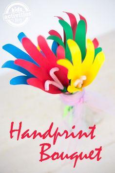 Flowers for teachers dirt Pudding Handprint Bouquet