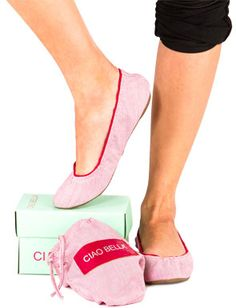 Ciao Bella flats in lots of colors. Chic and comfortable shoes!