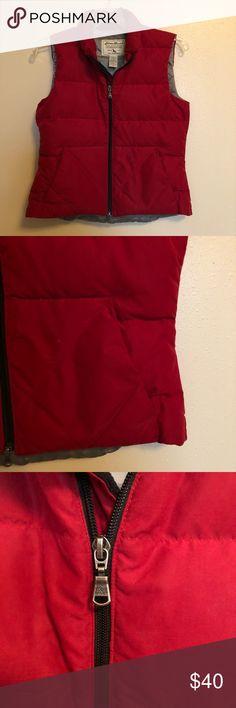 Eddie Bauer down filled red puffer vest This Eddie Bauer vest is so warm. It is goose down filled. In great condition. Eddie Bauer Jackets & Coats Vests
